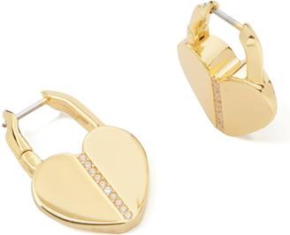 Kate Spade Spade Lock Pave Hoop Earrings