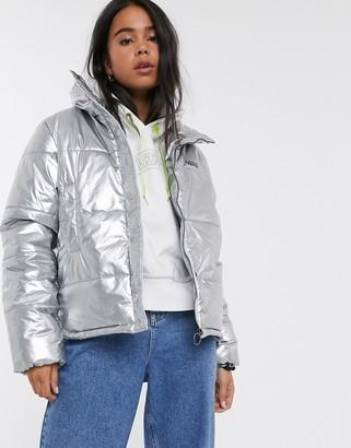 Vans Galactic Spiral Metallic Jacket in metallic silver