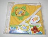 Sesame Street Hooded Towel With Brush & Comb Set - Yellow(BIG BIRD)