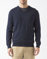 Lacoste Navy Blue V-Neck Jumper