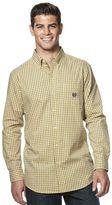 Chaps Big & Tall Mini-Check Poplin Easy-Care Shirt