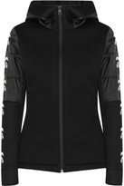 Fendi Karlito Printed Modal-blend And Quilted Shell Jacket - Black