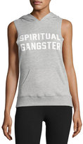 Spiritual Gangster Collegiate Pullover Muscle Hoodie, Gray