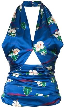 Racil Floral Print Halterneck Top
