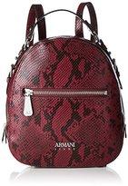 Armani Jeans Zaino, Women's Backpack Handbag, Rot (Burgundy), 27x8x24 cm (B x H T)