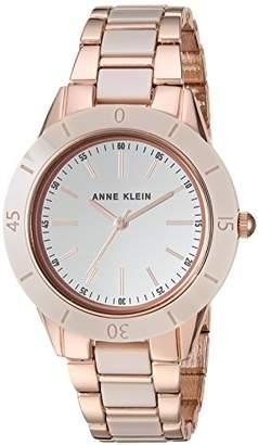 Anne Klein Women's AK/3160TNRG Rose Gold-Tone and Tan Ceramic Bracelet Watch