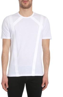 Diesel Black Gold Crossed Bands Effect Crewneck T-Shirt