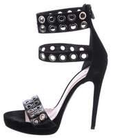 Barbara Bui Snakeskin Embellished Sandals