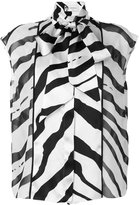 Lanvin graphic stripe blouse