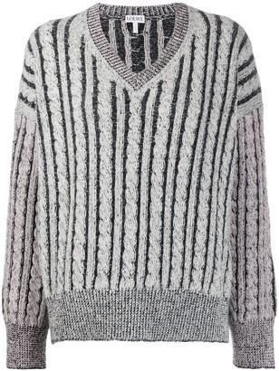 Loewe Striped Wool Knitted Jumper
