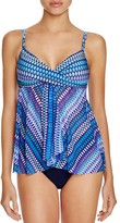 Profile by Gottex Blue Lagoon Flyaway Tankini Top