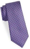 Saks Fifth Avenue Lattice Floral Silk Tie