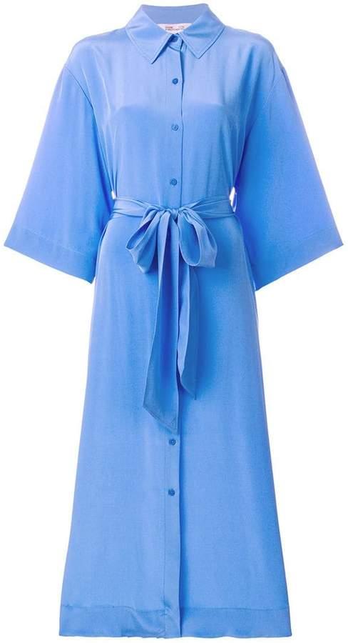 Diane von Furstenberg tie waist shirt dress