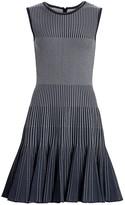 Oscar de la Renta Sleeveless Ribbed Mini Dress