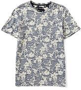 GUESS Short-Sleeve Stream Indigo Floral Shirt
