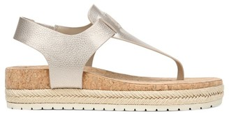 Vince Flint Metallic Leather Espadrille Thong Sandals