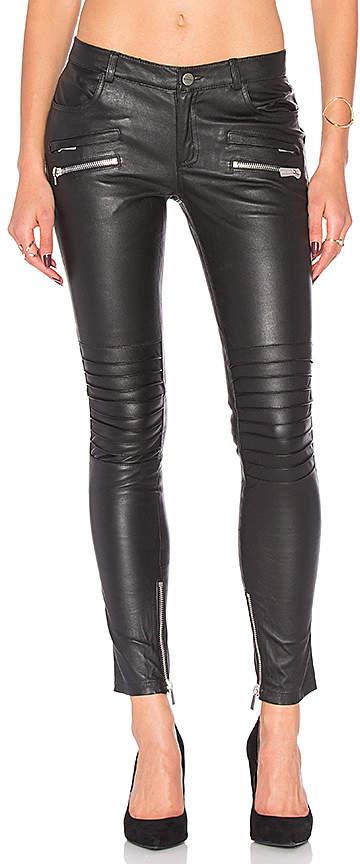 Anine Bing Biker Leather Pant