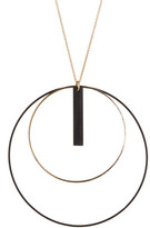Natasha Accessories Double Circle Stick Pendant Necklace