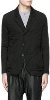 Attachment Dobby stripe crinkle cotton-wool-linen blazer