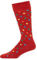 Happy Socks Men's Polka Dot Crew Socks