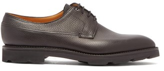 John Lobb Croft Grained Leather Derby Shoes - Mens - Black