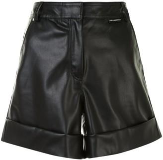Karl Lagerfeld Paris Faux Leather Shorts