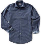 Thomas Dean Big & Tall Check Textured Long-Sleeve Woven Shirt