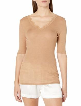 Hanro Women's Woolen Lace Short Sleeve Shirt