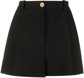 Versace Medusa-button high-waisted shorts