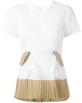 Sacai pleated T-shirt