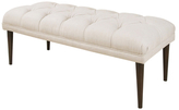 Skyline Furniture Tufted Bench with Cone Legs
