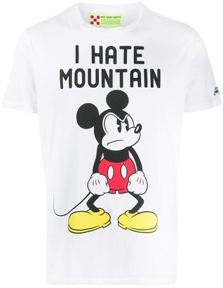 MC2 Saint Barth Mickey Mouse slogan print T-shirt