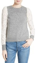 Rebecca Taylor Women's Lace Sleeve Sweater