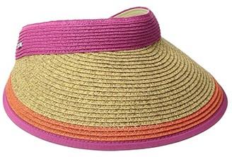 San Diego Hat Company UBV047 Visor with Contrast Color Stripe and Adjustable Back (Hot Pink) Casual Visor