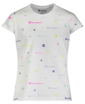 Champion Little Girls All Over Print Short Sleeve T-shirt