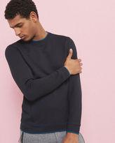 Ted Baker Ls Textured Panel Sweatshirt