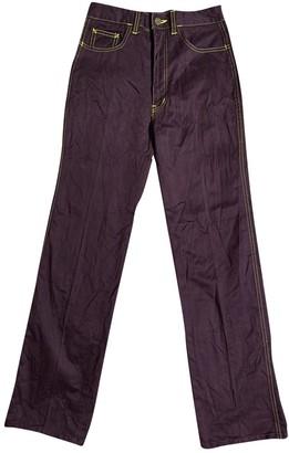 Fiorucci Purple Cotton Jeans for Women