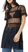 Topshop PETITE Tulle Ruch Tee Tunic