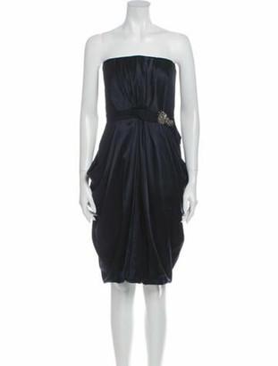 J. Mendel Silk Knee-Length Dress Blue