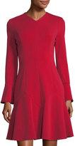 Maggy London Long-Sleeve Godet Flare Dress