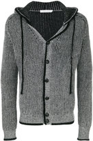 Pierre Balmain button front hooded cardigan