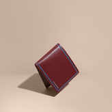 Burberry London Leather International Bifold Wallet, Red