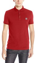 HUGO BOSS BOSS Orange Men's Pavlik Slim Fit Washed Pique Polo Shirt with Logo
