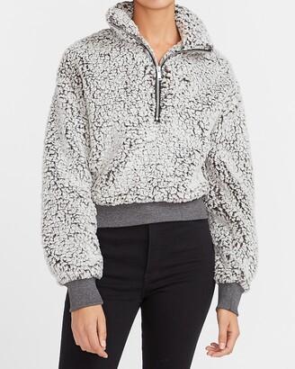 Express Sherpa Quarter Zip Sweatshirt