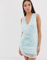 The Girlcode sequin mini dress in mint