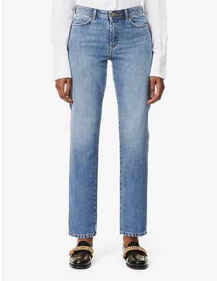 Sessun Straight-leg mid-rise boyfriend jeans