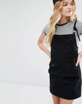 Daisy Street Pinafore Dress With Pocket Detail
