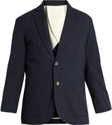 DE BONNE FACTURE Stretch-cotton seersucker jacket