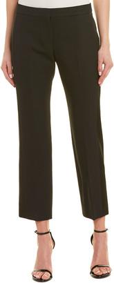 Alexander McQueen Flat-Front Wool-Silk Pant
