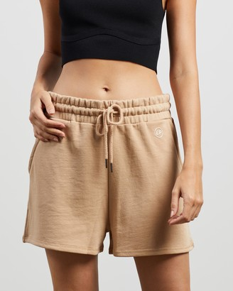 ENA PELLY - Women's Brown Shorts - Essential Track Shorts - Size 6 at The Iconic